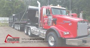 Why is preplanning important to excavation work?